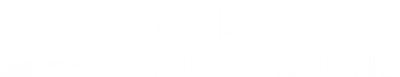 DRC and Dubbo Showground logo colour white text