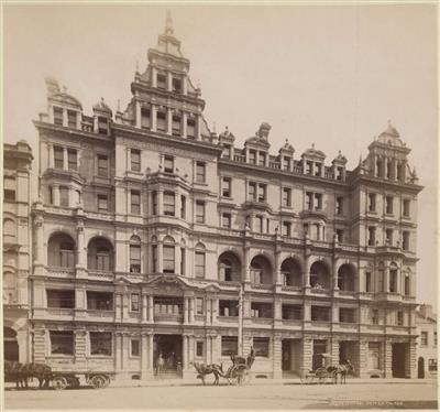 Grand Central Coffee Palace, charles Bayliss, c. 1880