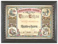 Members Card - Band of Hope Union, London, circa 1890, Museums Victoria