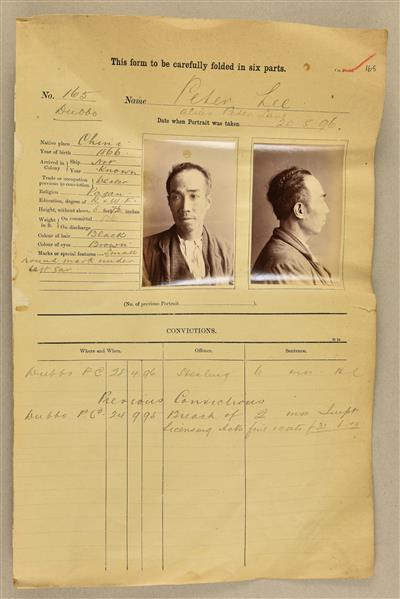 Peter Lee alias Lane mugshot