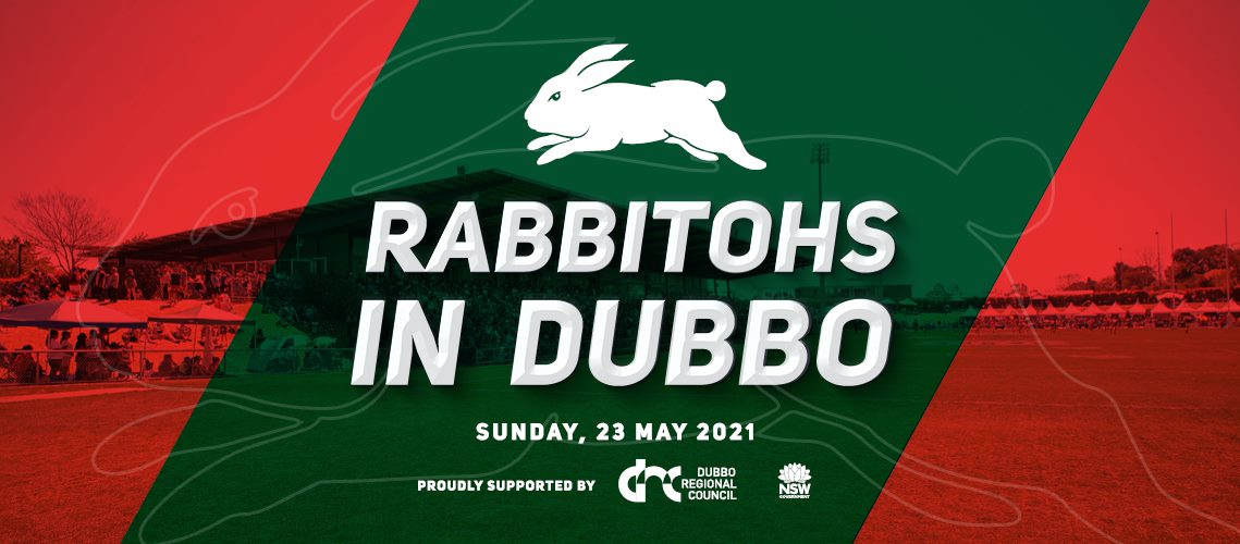 Rabbitohs V Panthers banner red and green