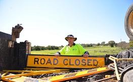 Dubbo Regional Council road closed sign