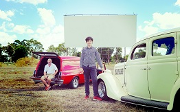 Dubbo Regional Council Youth Development Officer and Dubbo CIty Youth Council member at the old WestView Drive In with vintage cars