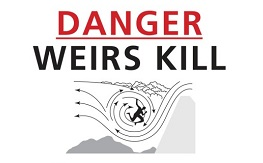 Weirs Kill danger sign