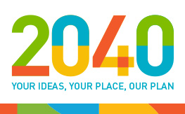 Coloured logo for 2040 Community Strategic Plan