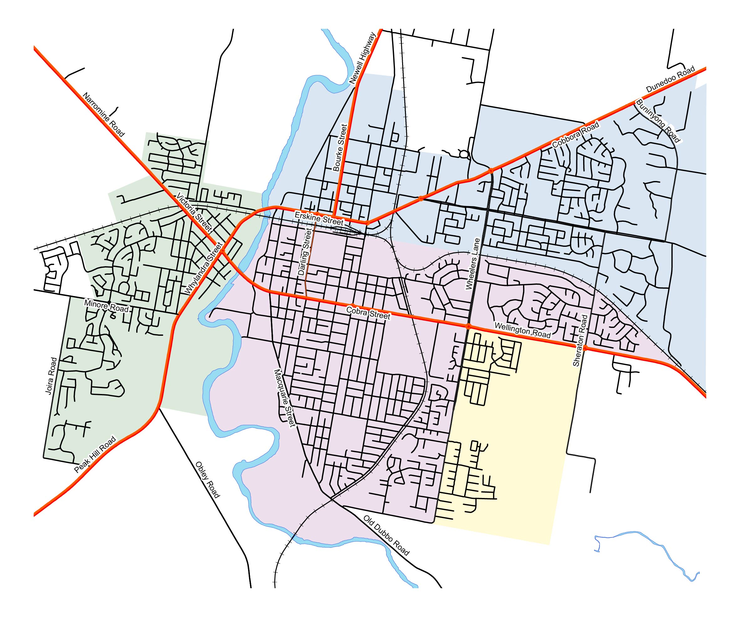 Dubbo Collection Zones - Map