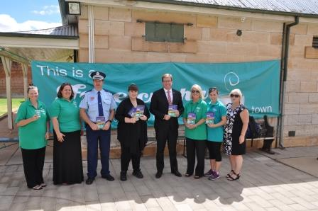 State Member for Dubbo, Mr Troy Grant and Road Safety Officers at the 2017 launch of Free Cuppa for the Driver in Dubbo